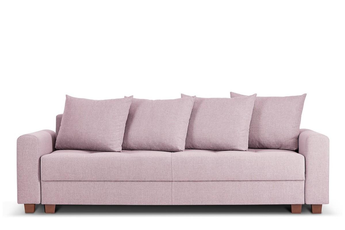 Kanapa z funkcją spania różowa