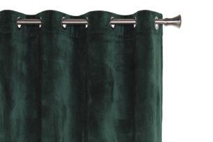 VELO, https://konsimo.pl/kolekcja/velo/ Zasłona na przelotkach ciemny zielony - zdjęcie