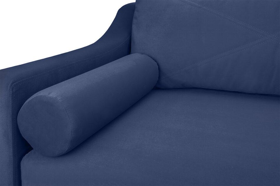SATEO Sofa z funkcją spania z pojemnikiem na pościel welwet granatowa granatowy - zdjęcie 2