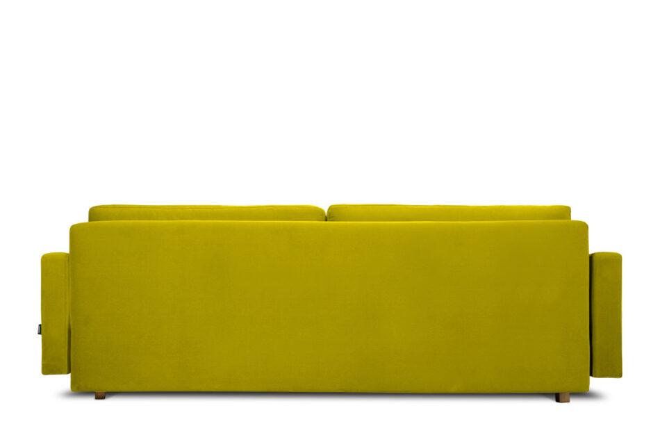 NARTEN Kanapa 3 osobowa rozkładana welur oliwkowa żółty - zdjęcie 5