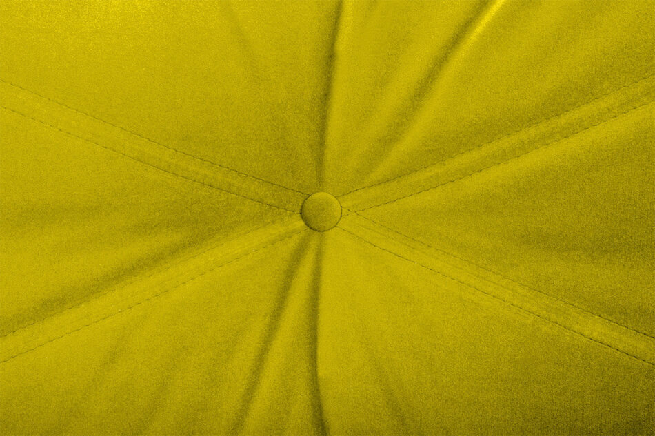 NARTEN Kanapa 3 osobowa rozkładana welur oliwkowa żółty - zdjęcie 4