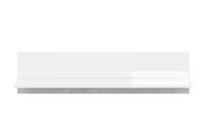 HOSTA, https://konsimo.pl/kolekcja/hosta/ Półka wisząca biała z połyskiem glamour biały połysk - zdjęcie