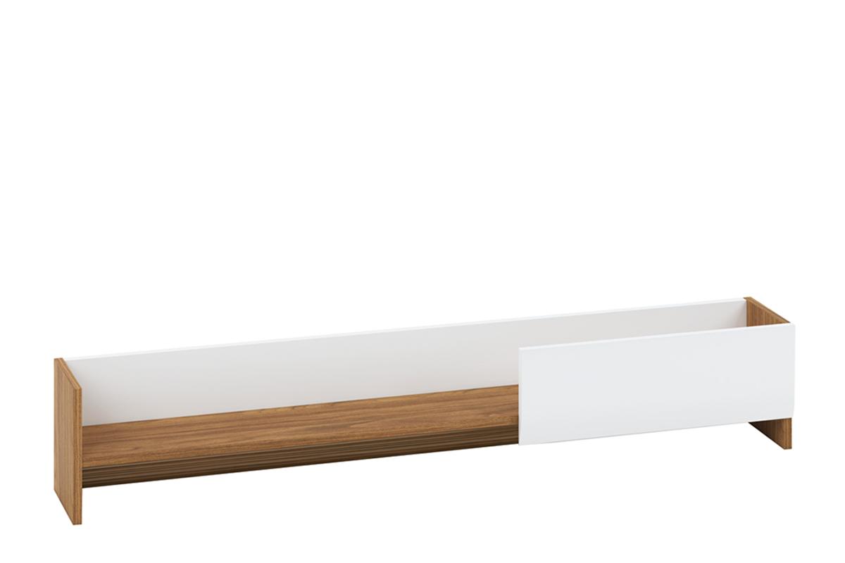 Półka wisząca 130 cm do salonu orzech / biały