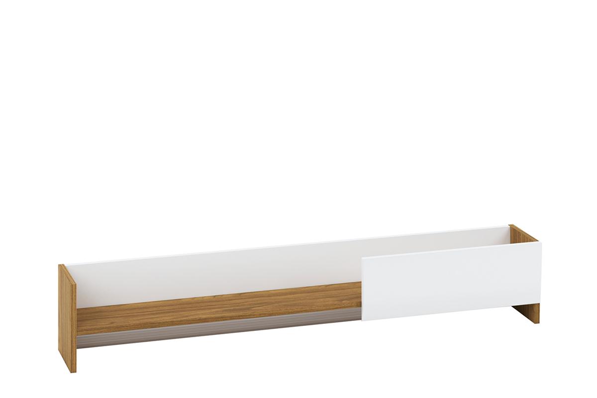 Półka wisząca 130 cm do salonu biały / orzech naturalny