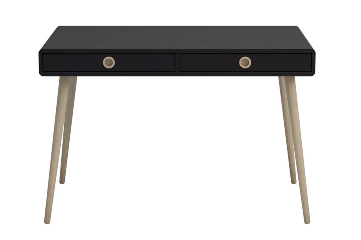 Skandynawskie biurko na nóżkach czarne