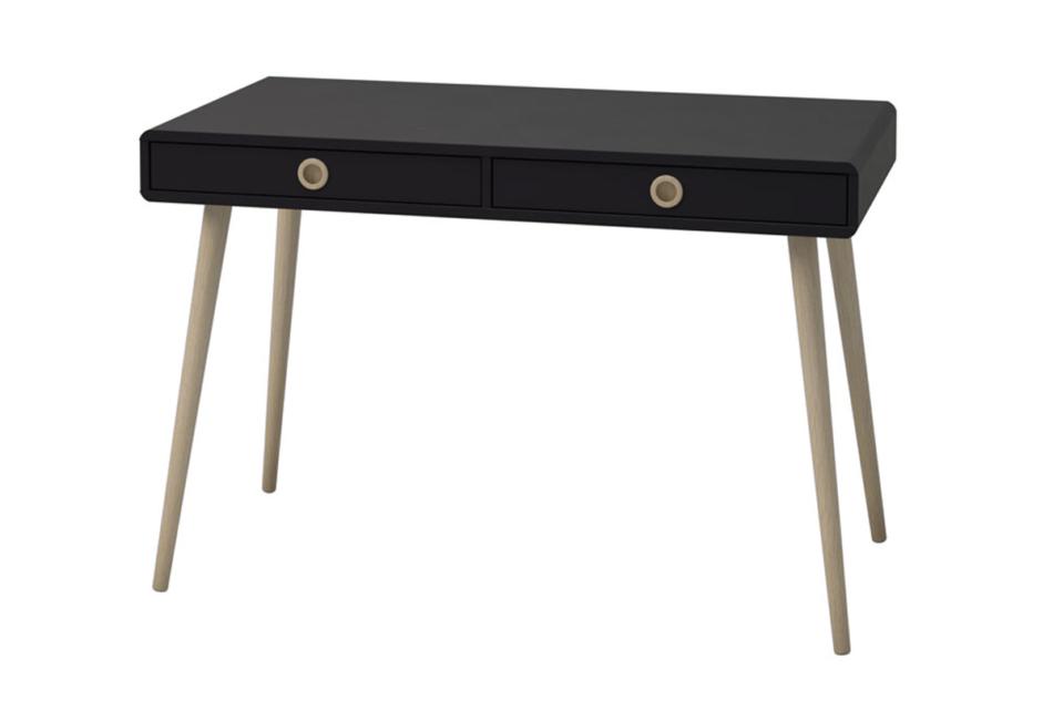 SOFTLINE Skandynawskie biurko na nóżkach czarne czarny/dąb - zdjęcie 2