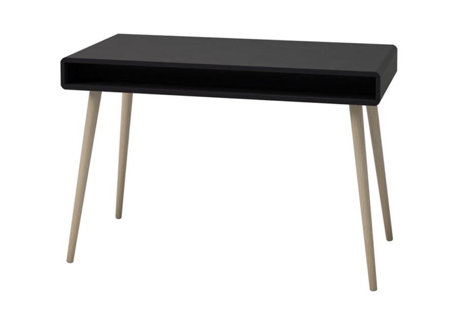 SOFTLINE Skandynawskie biurko na nóżkach czarne czarny/dąb - zdjęcie 3
