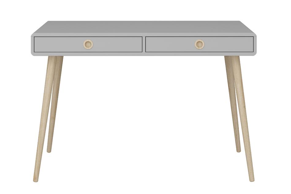 SOFTLINE Skandynawskie biurko na nóżkach szare szary/dąb - zdjęcie 0