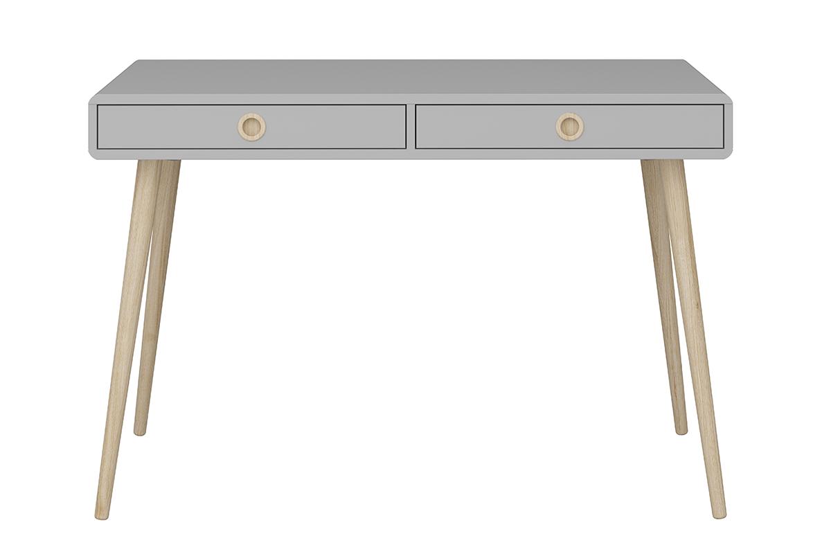 Skandynawskie biurko na nóżkach szare