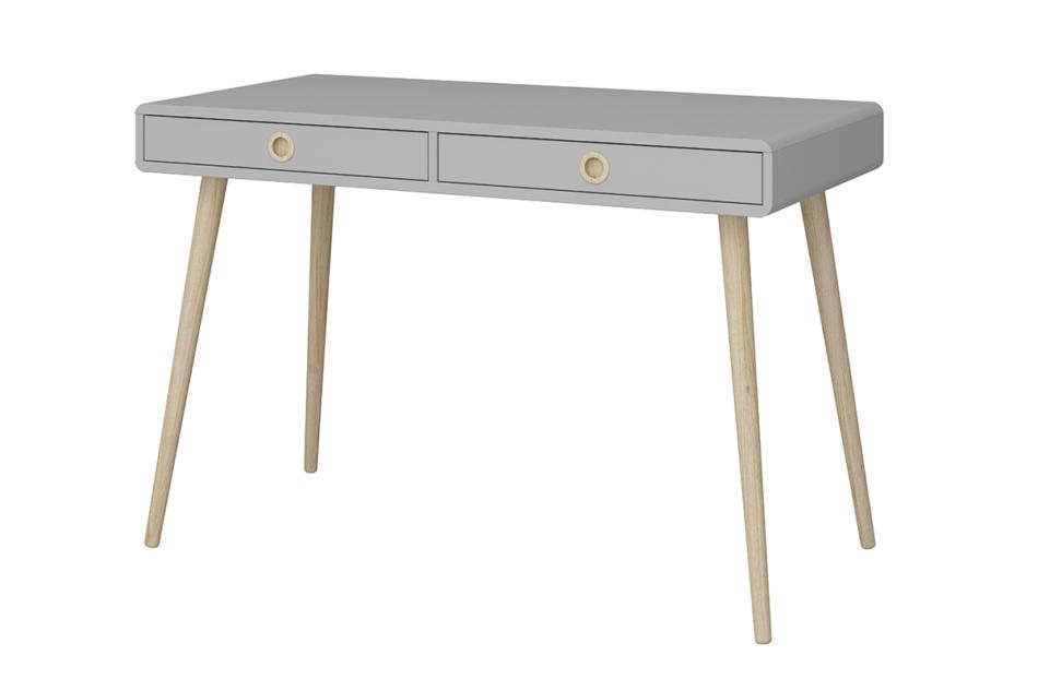 SOFTLINE Skandynawskie biurko na nóżkach szare szary/dąb - zdjęcie 2