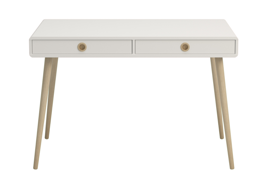 SOFTLINE Skandynawskie biurko na nóżkach białe biały/dąb - zdjęcie 0