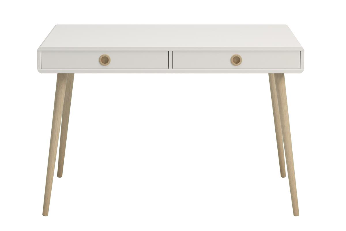 Skandynawskie biurko na nóżkach białe