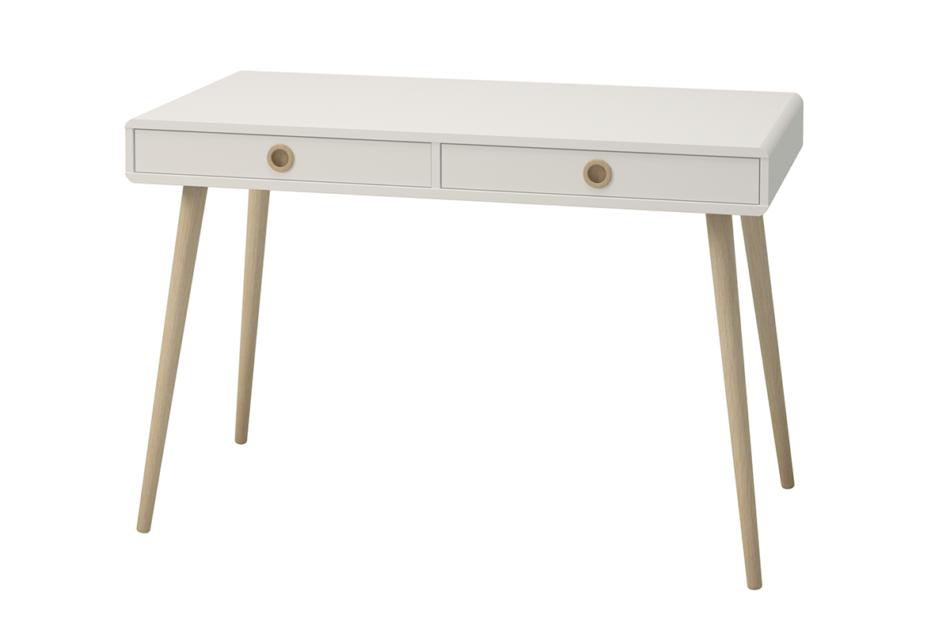 SOFTLINE Skandynawskie biurko na nóżkach białe biały/dąb - zdjęcie 2