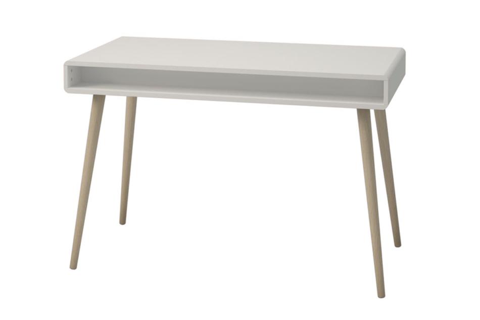 SOFTLINE Skandynawskie biurko na nóżkach białe biały/dąb - zdjęcie 3