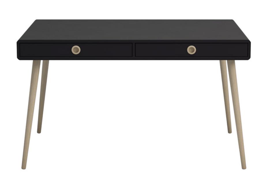 SOFTLINE Skandynawskie duże biurko na nóżkach czarne czarny/dąb - zdjęcie 0