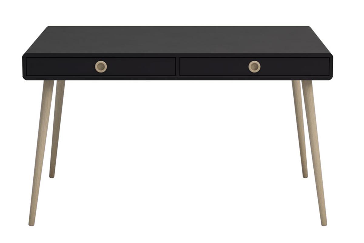 Skandynawskie duże biurko na nóżkach czarne
