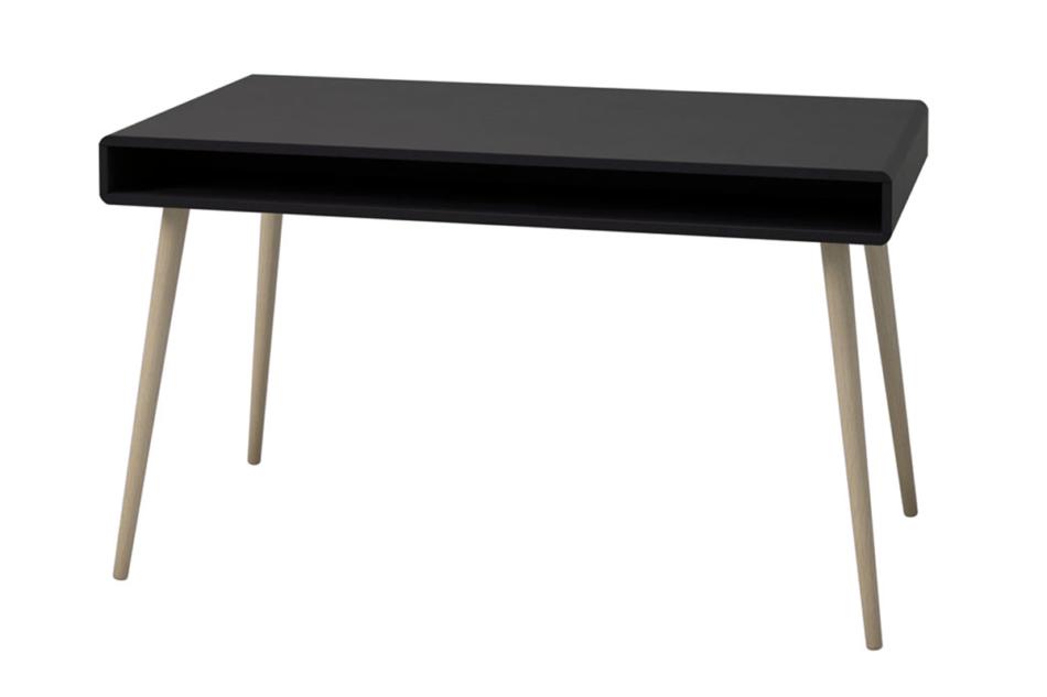 SOFTLINE Skandynawskie duże biurko na nóżkach czarne czarny/dąb - zdjęcie 3