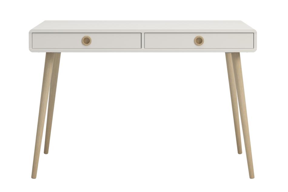 SOFTLINE Skandynawskie duże biurko na nóżkach białe biały/dąb - zdjęcie 0