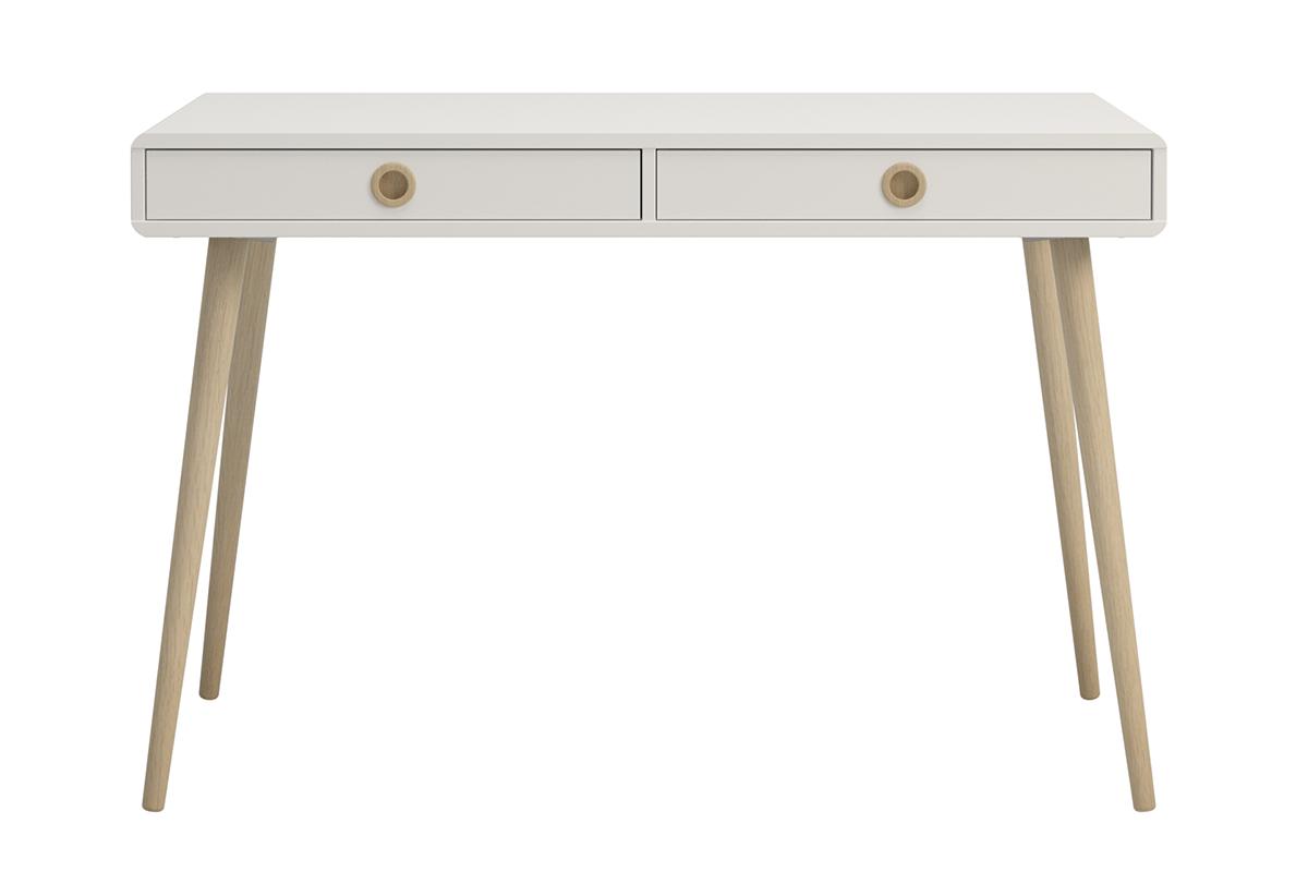Skandynawskie duże biurko na nóżkach białe