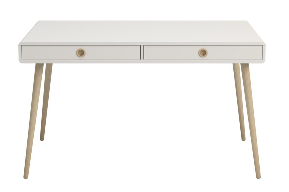 SOFTLINE Skandynawskie duże biurko na nóżkach białe biały/dąb - zdjęcie 2
