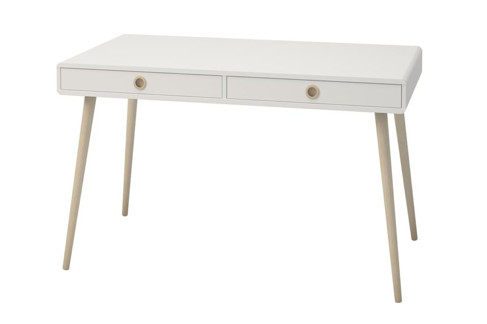 SOFTLINE Skandynawskie duże biurko na nóżkach białe biały/dąb - zdjęcie 3