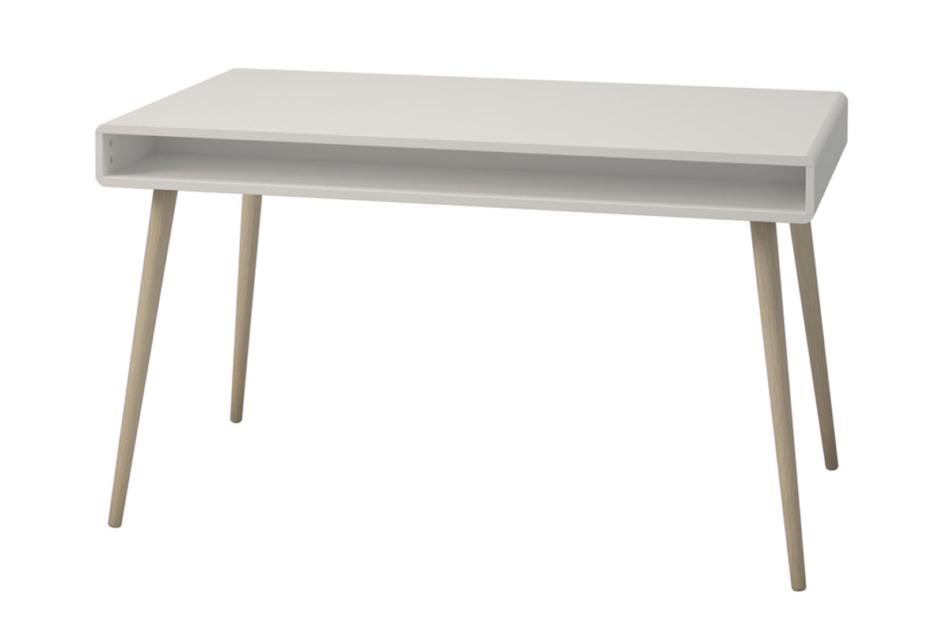 SOFTLINE Skandynawskie duże biurko na nóżkach białe biały/dąb - zdjęcie 4