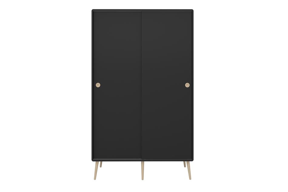 SOFTLINE Skandynawska szafa ubraniowa czarna czarny/dąb - zdjęcie 0