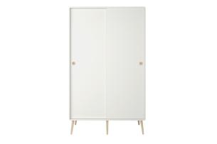 SOFTLINE, https://konsimo.pl/kolekcja/softline/ Skandynawska szafa ubraniowa biała biały/dąb - zdjęcie