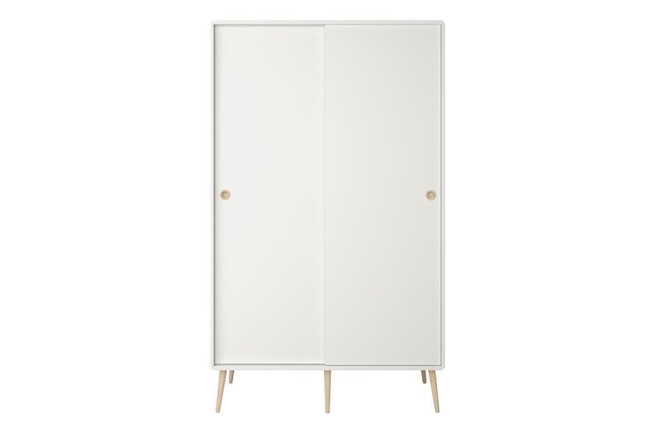 SOFTLINE Skandynawska szafa ubraniowa biała biały/dąb - zdjęcie 0