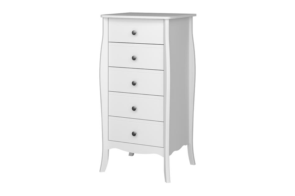 BAROQUE Wąska komoda z szufladami vintage biała biały - zdjęcie 2
