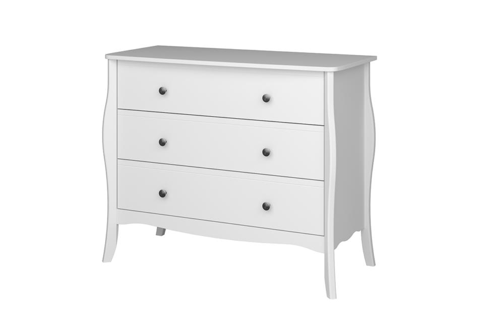BAROQUE Komoda z szufladami vintage biała biały - zdjęcie 2