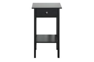 TROMSÖ, https://konsimo.pl/kolekcja/tromso/ Prosty stolik nocny z szufladą czarny czarny - zdjęcie