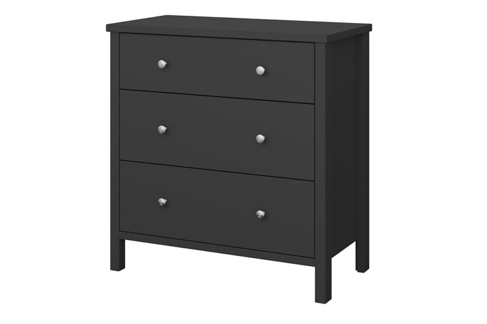TROMSÖ Prosta komoda z szufladami czarna czarny - zdjęcie 2