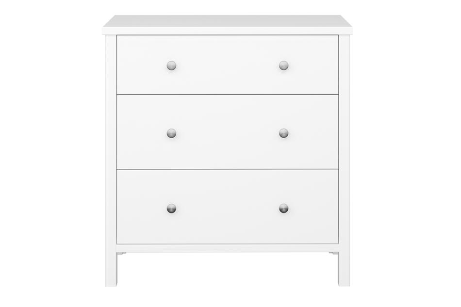 TROMSÖ Prosta komoda z szufladami biała biały - zdjęcie 0