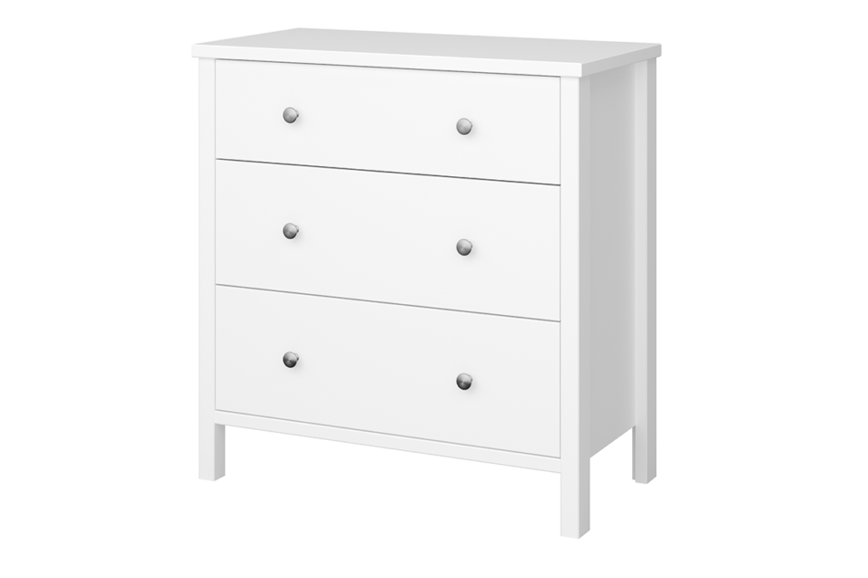 TROMSÖ Prosta komoda z szufladami biała biały - zdjęcie 2
