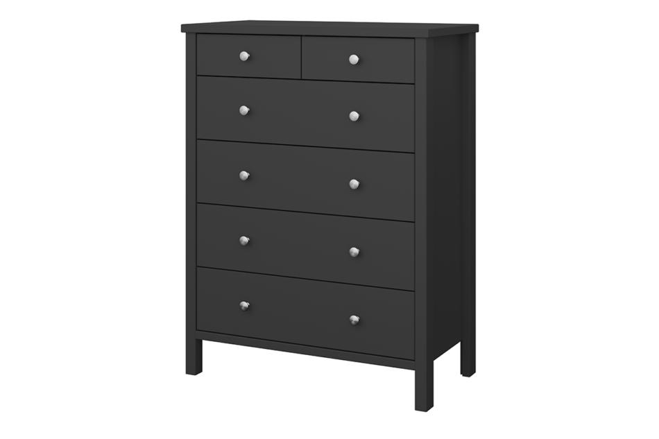 TROMSÖ Prosta wysoka komoda z szufladami czarna czarny - zdjęcie 2