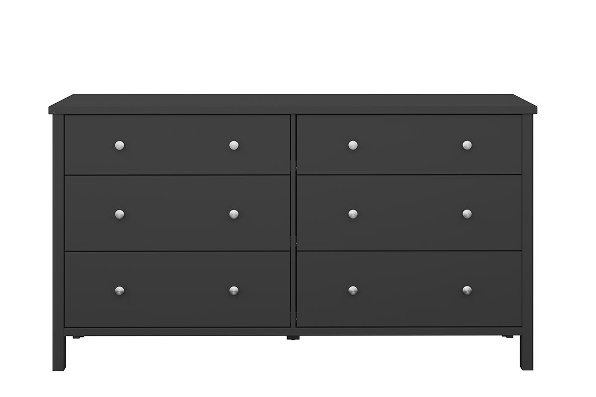Prosta duża komoda z szufladami czarna