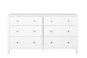 TROMSÖ, https://konsimo.pl/kolekcja/tromso/ Prosta duża komoda z szufladami biała biały - zdjęcie