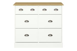 NOLA, https://konsimo.pl/kolekcja/nola/ Komoda w stylu prowansalskim biała biały/sosna - zdjęcie