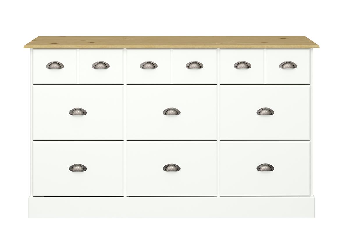 Duża komoda w stylu prowansalskim biała