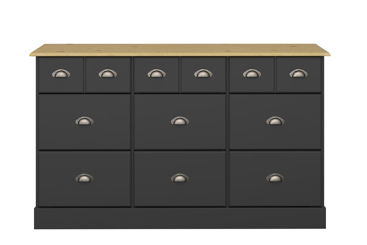 Duża komoda w stylu prowansalskim czarna