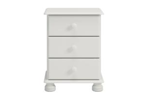 RICHMOND, https://konsimo.pl/kolekcja/richmond/ Szafka nocna z szufladami sosna biała biały - zdjęcie