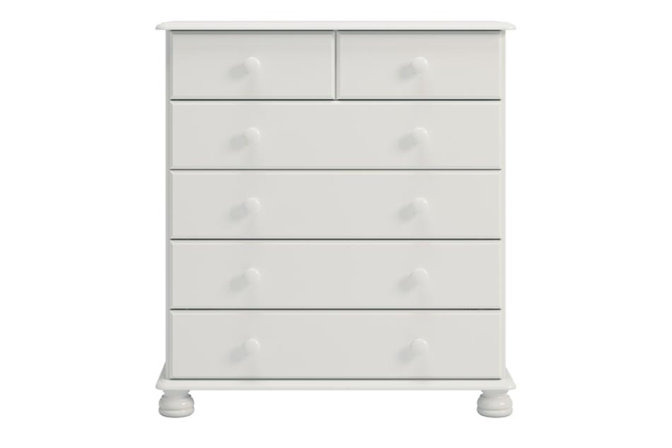 RICHMOND Komoda z szufladami sosna biała biały - zdjęcie 0