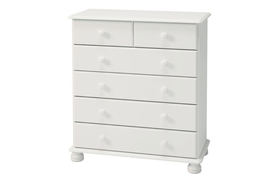 RICHMOND Komoda z szufladami sosna biała biały - zdjęcie 1