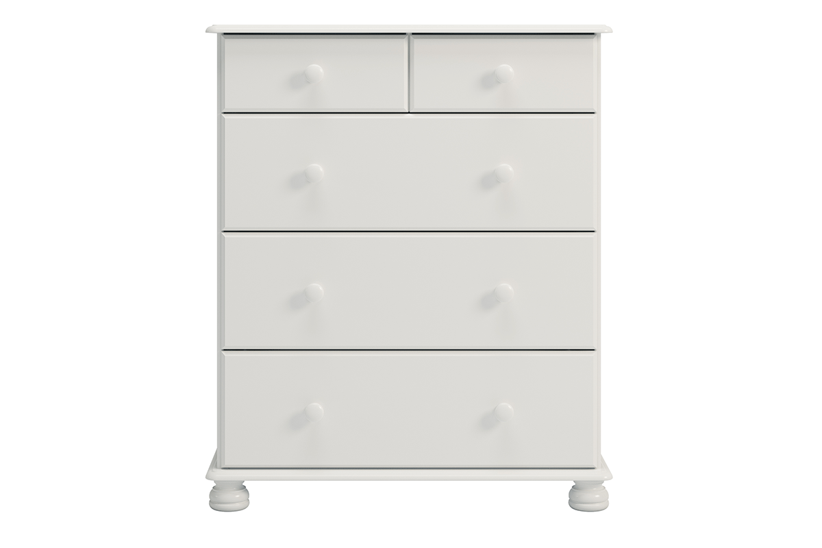 Wąska komoda z szufladami sosna biała