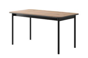 VARIA, https://konsimo.pl/kolekcja/varia/ Stół do salonu loft antracytowy/dąb - zdjęcie