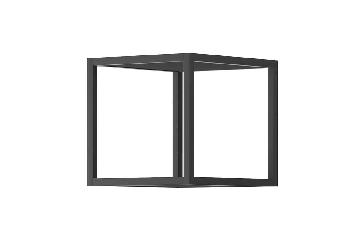 Nowoczesna półka metalowa wisząca czarna