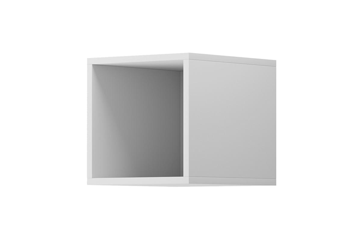 Nowoczesna otwarta półka ścienna biała