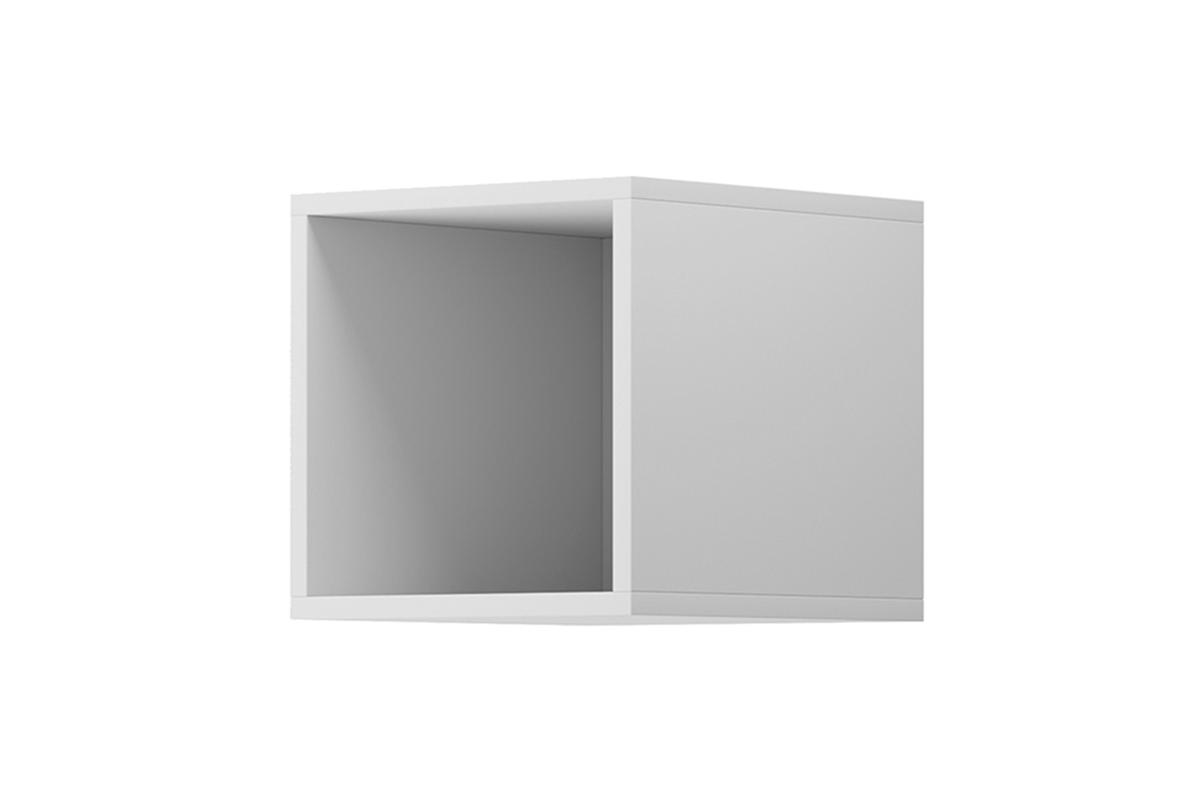 Nowoczesna półka regału modułowego biała