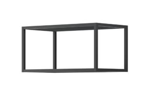 MORIO, https://konsimo.pl/kolekcja/morio/ Metalowy stelaż półki wiszącej czarny czarny - zdjęcie